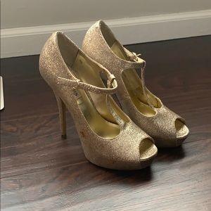 Steve Madden Glitter Gold High Heels